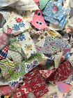 Feedsack fabric scraps, 2 lbs, large variety patterns,vintage fabric, quilting,
