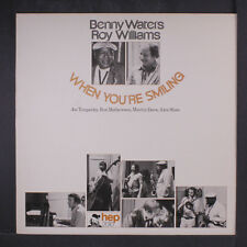 """Benny Waters Roy Williams When You're Smiling 1981 UK signed LP 12"""" 33rpm (nm)"""