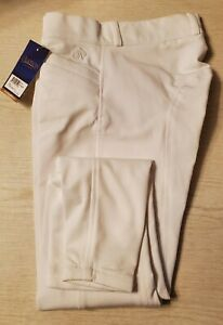 OVATION CELEBRITY EUROWEAVE WHITE SHOW BREECHES SIZE 26R