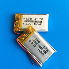 2 x 160mAh 3.7V Li Po Battery for Headset MP3 MP4 Video pen GPS Bluetooth 401730