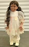"""Stunning Vtg African American Little Girl Baby Doll 24"""" by Real People Dolls"""