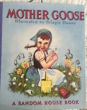 AMAZING MOTHER GOOSE 1940 LIKE NEW WOW Vintage Childrens Book HC PELAGIE DOANE