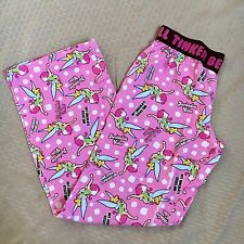 Disney Tinker Bell Kawaii Candy Color Pink Sleep Lounge Pajama Pants S