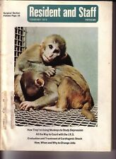Resident and Staff February 1972 How They Are Using Monkeys To Study Depression