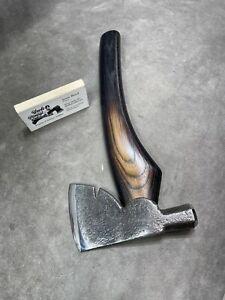 Vintage carpenters axe hatchet hammer POLISHED custom JESSE REED tomahawk handle