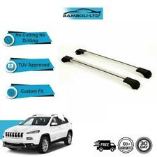 FIT Chrysler JEEP Cherokee KL Roof Rack Cross Bars Rails Alu, 2014-2019 (Black)