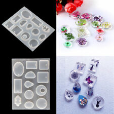 Silicone Square Oval Pendant Earrings Resin Casting Mold Jewelry Making Mould