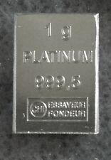 Platinbarren, 1g Platin - (Platinum)