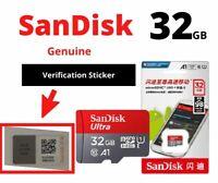 SanDisk Ultra 32GB Class 10 - SDHC Memory Card TF Micro SD