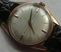 Zenith Automatic mens wristwatch gold filled case 33,5 mm. in diameter