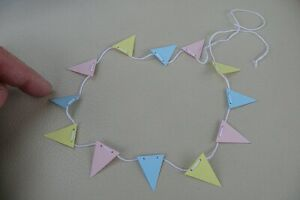 1/12th dolls house - PASTEL BUNTING - SG