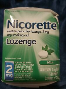 Nicorette Nicotine Lozenge, 2mg, Mint, 144 Count New Sealed Box Exp. 2022