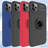 For iPhone 11 Pro Max/11/X/XR/XS Max Slim Ring Holder Case Cover With Kickstand