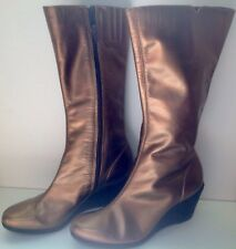 Leather Bronze Womens Boots By Tchoco