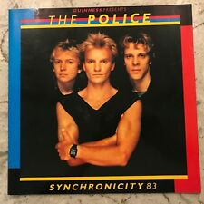 The Police - Guinness Presents 1983 Synchronicity Tour Program Old New!