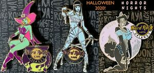 Hard Rock ORLANDO 2020 Halloween Sexy Monster Girls HHN Horror Nights 3 PIN SET!
