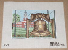 """Needle Crossings United States """"Liberty Bell"""" Handpainted Needlepoint Canvas"""