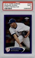 2012 Topps Chrome Mariano Rivera Purple Refractor #150 PSA 9 Pop 8 Yankees HOF