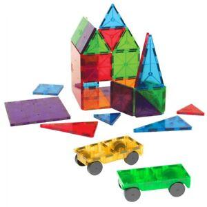 Magna-Tiles 32 Piece Clear Colors & Car Expansion Set