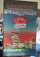VINTAGE SUMMERFEST  Milwaukee Wisconsin 19?? - PROFESSIONALLY FRAMED