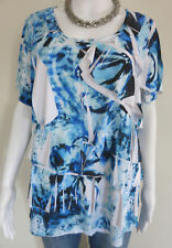 MILLERS Top Size 16 Blue Short Sleeve BUY 4 or more items for FREE POST