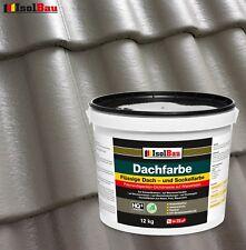 Dach- und Sockelfarbe Dachbeschichtung Dachlack 12 kg Steingrau Polymermembran