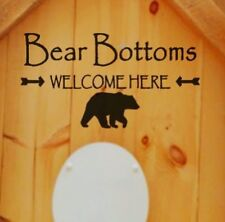Bear Welcome Outhouse Vinyl Wall Decal Sticker Rv Camp Cabin Trailer Bathroom
