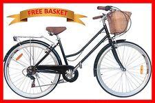 Vintage Retro Ladies Cruiser Bicycle / Bike 6 Speed Black