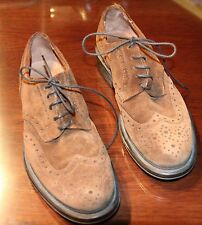 BANANA REPUBLIC MENS OXFORD SUEDE SHOES 10 1/2 D PRE OWNED GOOD SHAPE
