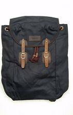 Barbour Waxed-Cotton Backpack with Leather Trim - Navy