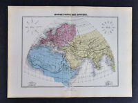1877 Migeon Atlas Map  Ancient World Europe Asia Africa Rome Greece by Chartier