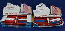 2 full Counter Boxes North Pacific Products Redi-Handle Kite Flying Line NOS 70s