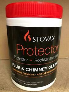 STOVAX Protector Flue Chimney Cleaner, Soot, Tar, Stove Open Fire TUB 1KG - SP01