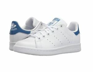 ADIDAS ORIGINALS STAN SMITH SNEAKERS BIG KID WHITE/BLUE WHITE/PINK AUTHENTIC NEW
