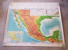Vintage 1967 Denoyer-Geppert Mexico School Map