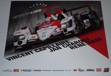 Le MANS 2014-CONSIGLIO MONDIALE dell'energia Elms DU MANS Sébastien Loeb RACING Oreca 03R LMP2 Scheda firmata