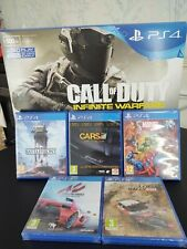 Sony PlayStation 4 Slim 500GB BOXED hardly used,incl 5 games 2 are sealed unused