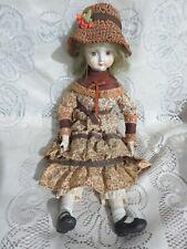 Vintage Girl Doll Cloth Body Porcelain Bust Arms Legs