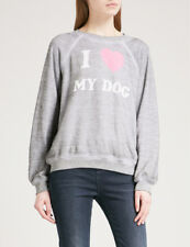 Wildfox couture I love my dog sommers sweater, heather grey sweatshirt, s. xs, s