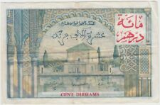 Morocco Banknote P52-1204 100 Dirhams o/p on 10,000 Francs 28-4-55, VF