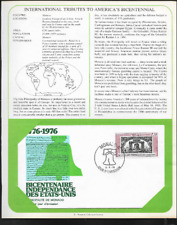 MONACO FIRST DAY COVER INSERTED ON ALBUM PAGE - AMERICA'S BICENTENNIAL 1976