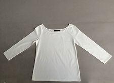 Hanes Damenshirt UBoot Ausschnitt 7/8 Arm ,weiß 95% Baumwolle, 5%Elastan Neu!