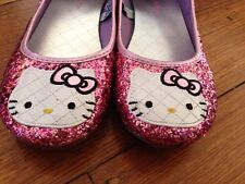 Hello Kitty Shimmering Flats US Size 4 Big Girl Loafers Shoes