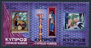 Cyprus 436-438a sheet,MNH.Michel 426-428 bogen. EUROPE CEPT-1975,Paintings.