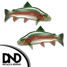 "Trout - Fish Decal Fishing Tackle Box Bumper Sticker ""5in SET"" F-0960 D&"