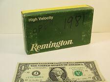 Vintage Remington Empty Ammo Box, Core-Lokt 303 British 185 Grain Soft Point