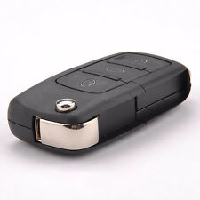 3 Button Remote Key Folding Case For VW Jetta Passat Golf Replace Practical
