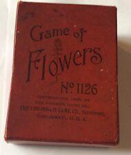 Vintage Boxed Game Of Flowers Card Game Cincinnati Game Co 1899