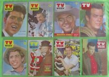 Collection of Laminated Tv Week covers from 1963 & 1964