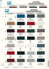 1999 MAZDA 626 TRUCK PROTEGE MIATA MPV PAINT CHIPS (DUPONT AND PPG)